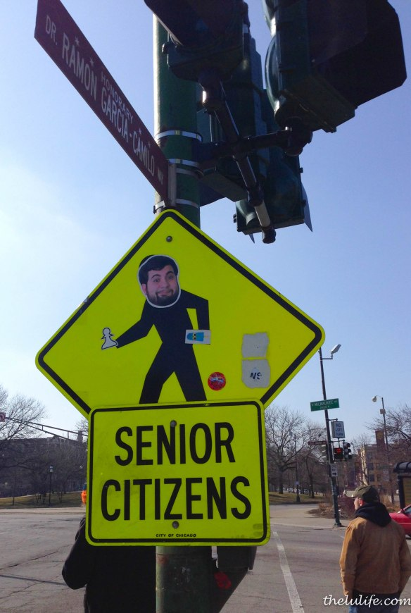 Figure 6b. Senior citizens warning sign