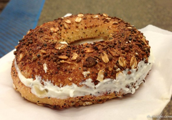 Figure 10. Everything bagel with cream cheese