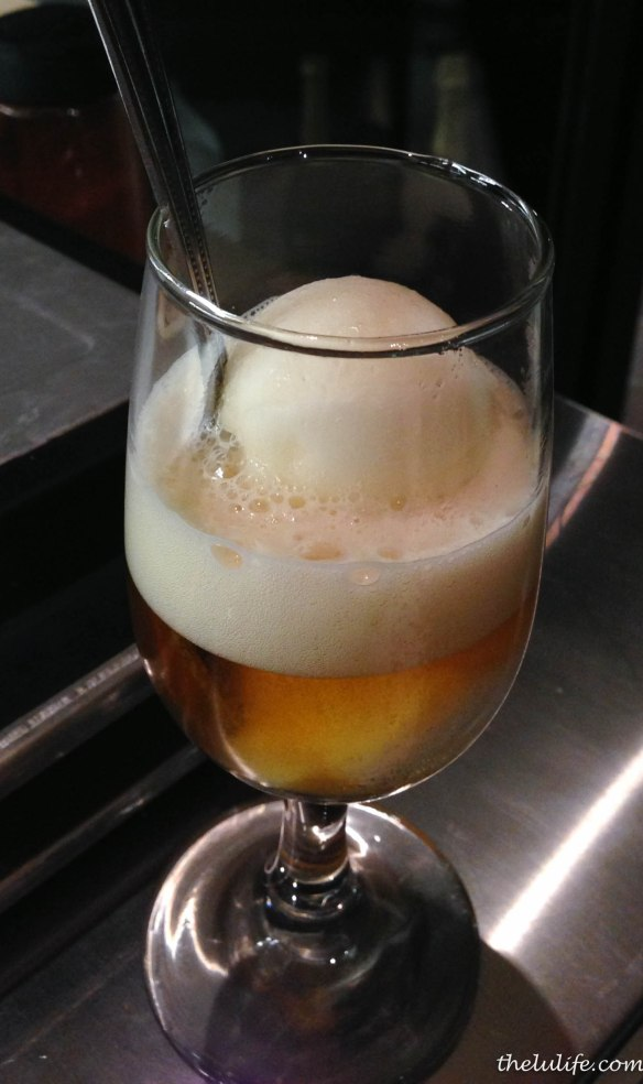 Figure 5. Lemon sorbet and IPA float