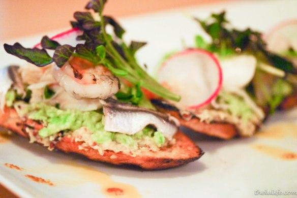 Figure 3. Seafood crostini