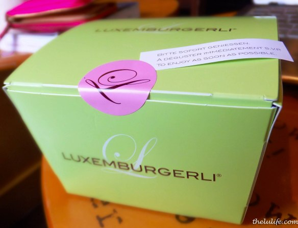 Figure 13. Box of luxemburgerli at Sprungli