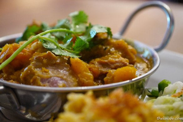 Pumpkin pork stew