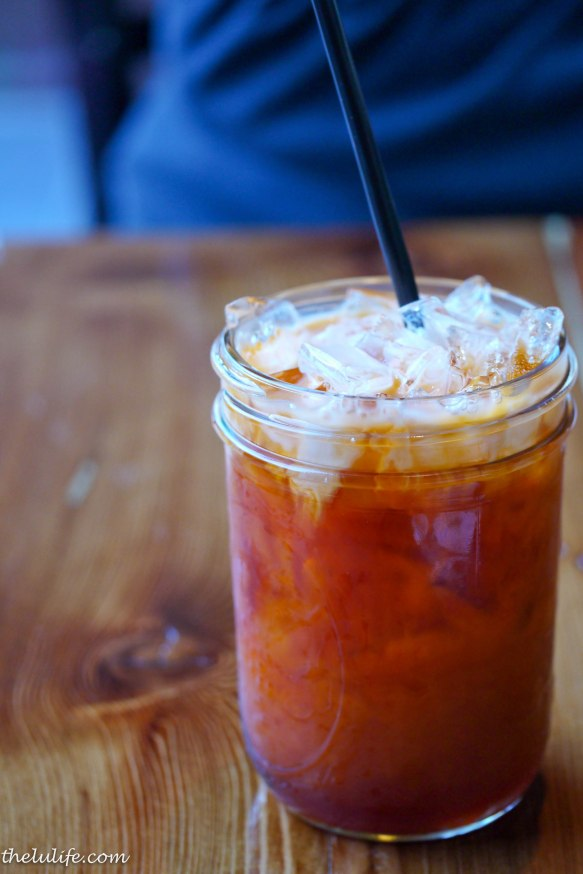 Thai iced tea Mix it up, and it is a sweet, chilled, soothing delight.  Perfect to go with something hot and spicy.