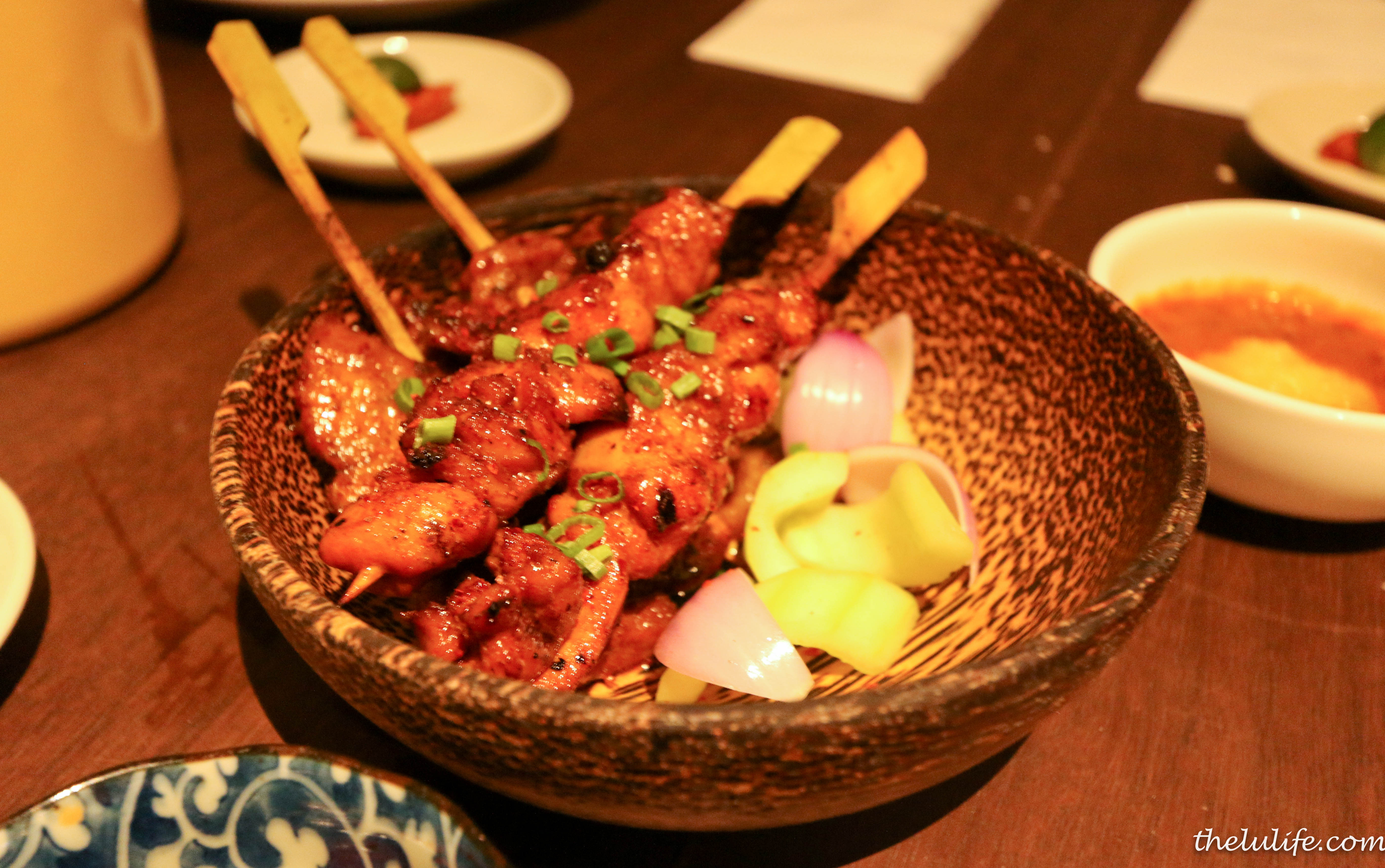 Candlenut Satay – grilled spiced marinated chicken thigh and pork ...