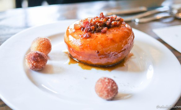 Bacon butterscotch doughnut