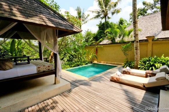 Our private villa at Komaneka Tanggayuda